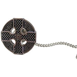 Round Celtic Cross Design Tie Tack